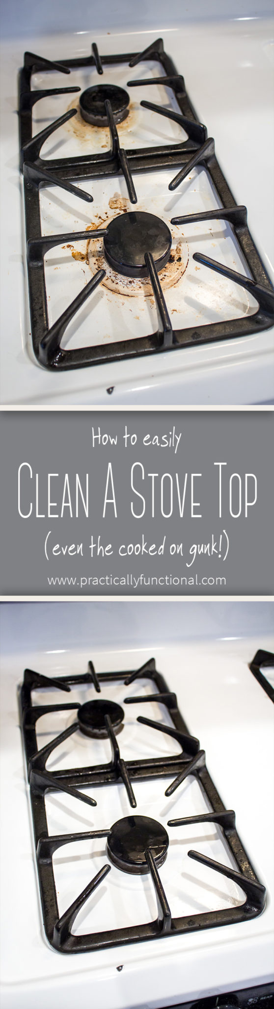 How to clean a stove top with baking soda and hydrogen peroxide