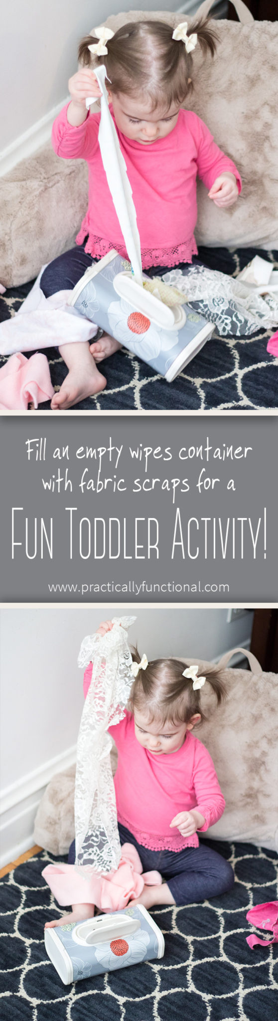 Turn An Empty Wipes Container Into A Fun Toddler Activity