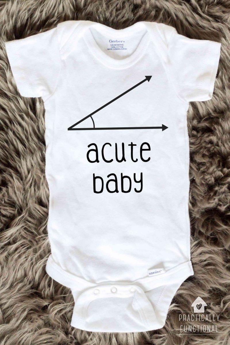Acute Baby Onesie Nerdy Math Joke Gift