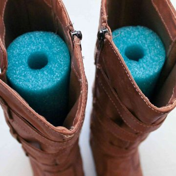 Floppy Boots? Fix Them With A Pool Noodle!