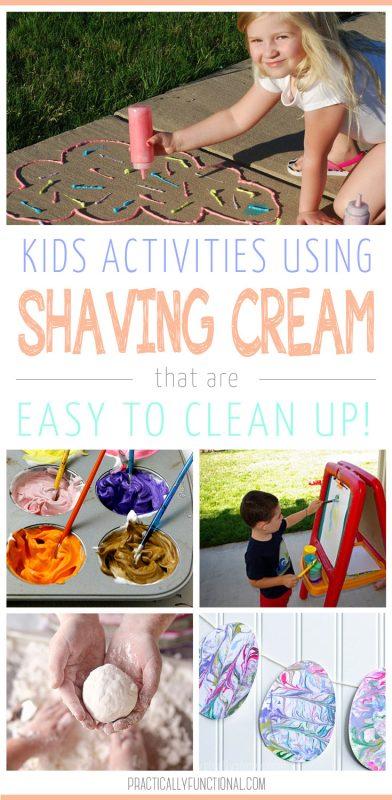 Fun shaving cream activities for kids