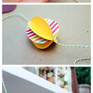 Paper Easter egg garland