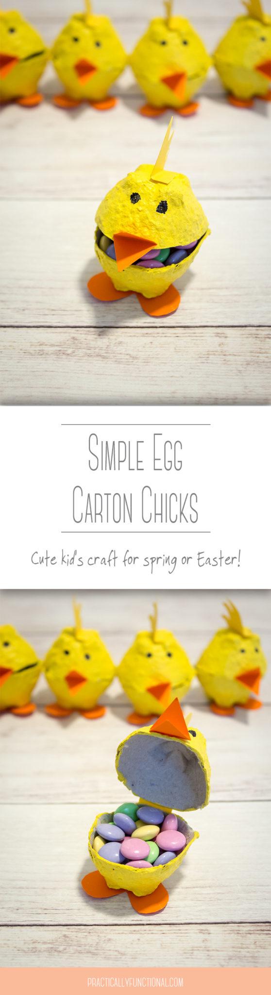 Simple egg carton chicks