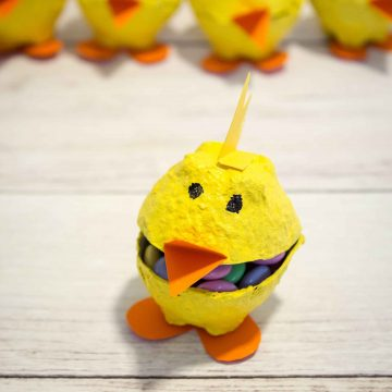 Make These Cute Egg Carton Chicks In Minutes!