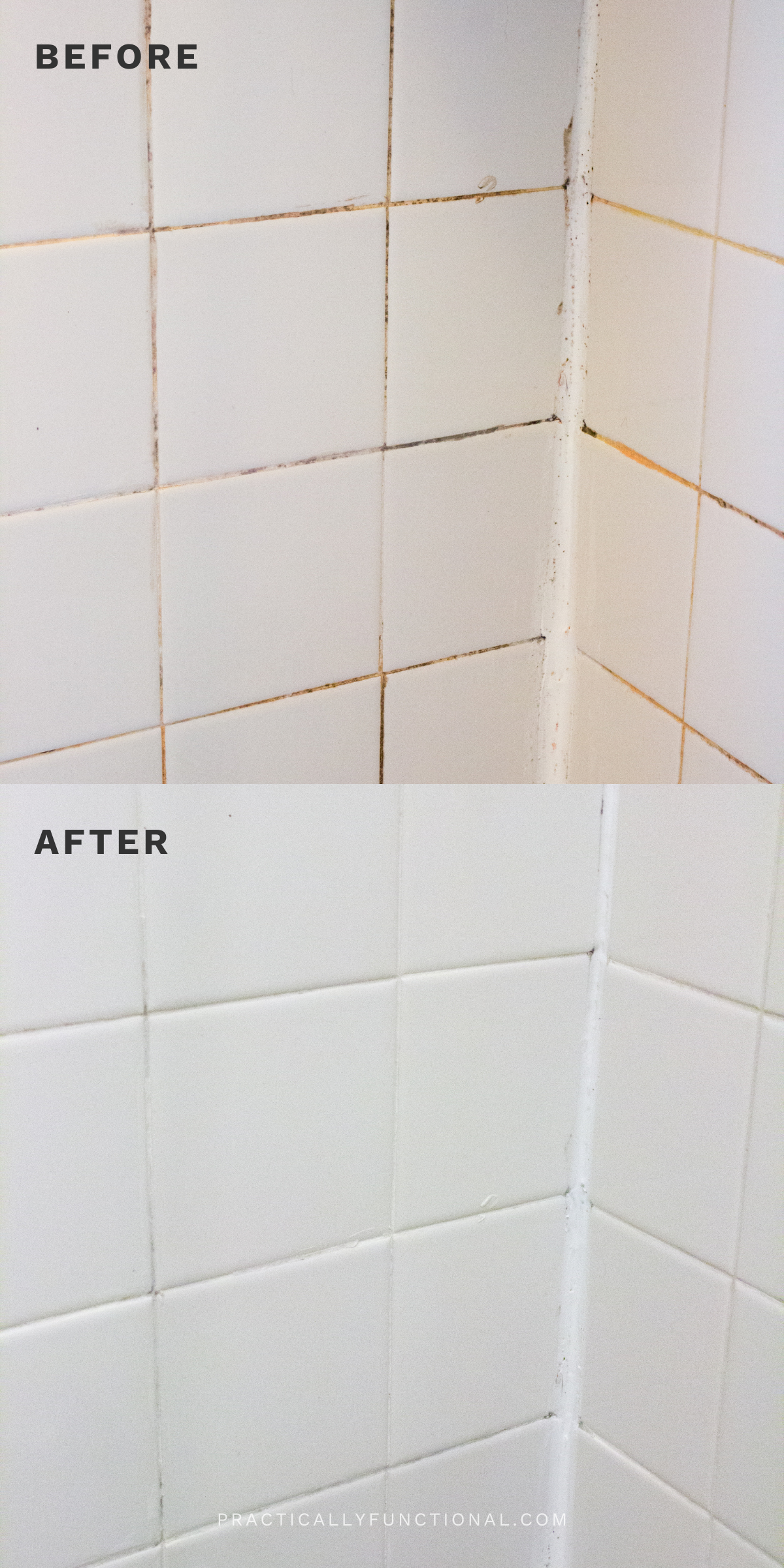 How To Clean Grout With A Homemade Grout Cleaner Practically Functional