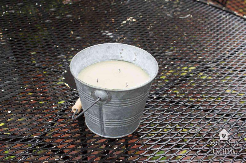 DIY outdoor citronella candle