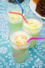 Sparkling Rainbow Sherbet Floats