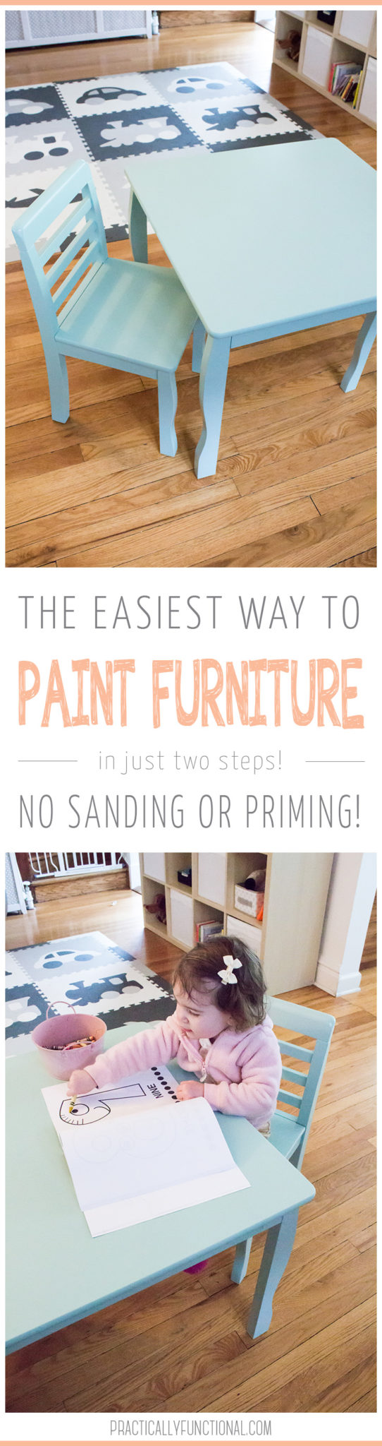 How to paint furniture with any paint, no sanding or priming required