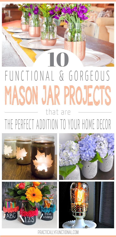 10 cool mason jar projects