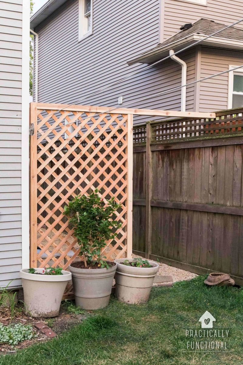 Build a simple diy trellis screen to hide ugly areas in How to build a trellis