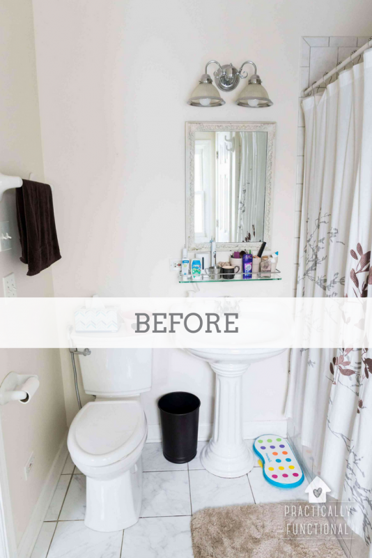 Diy hanging storage bins for over the toilet storage - What to hang above toilet ...