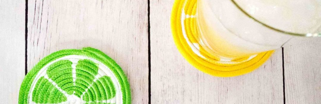 DIY Painted Rope Coasters Are Perfect For Summer!