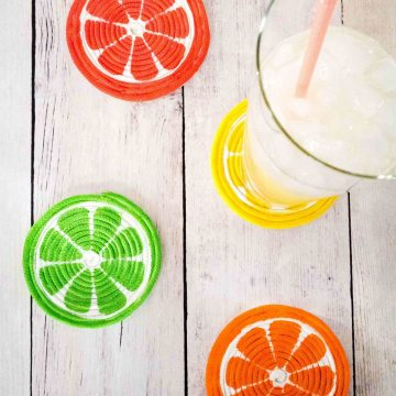 DIY Painted Rope Coasters