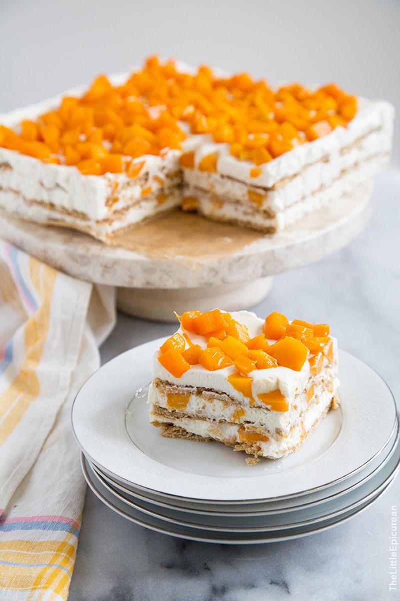 Mango royale icebox cake