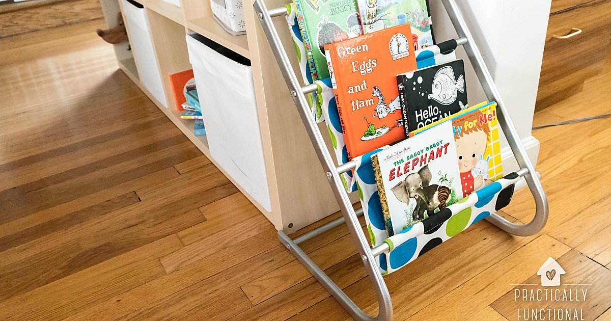 This Old Kids Sling Bookshelf Got A Colorful Makeover