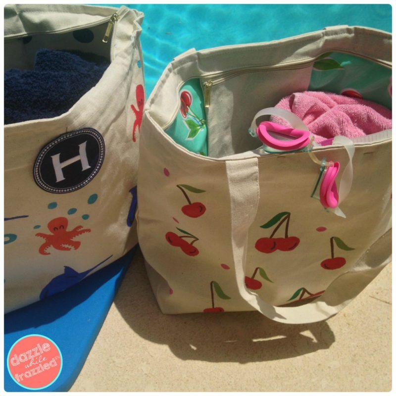 DIY waterproof swim bags