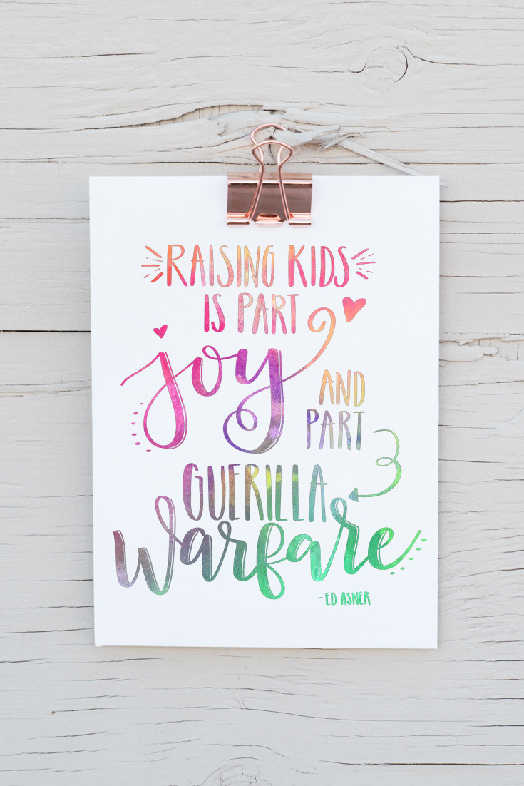 Learn hand lettering + a free hand lettered printable