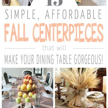 15 Simple and Affordable Fall Centerpieces