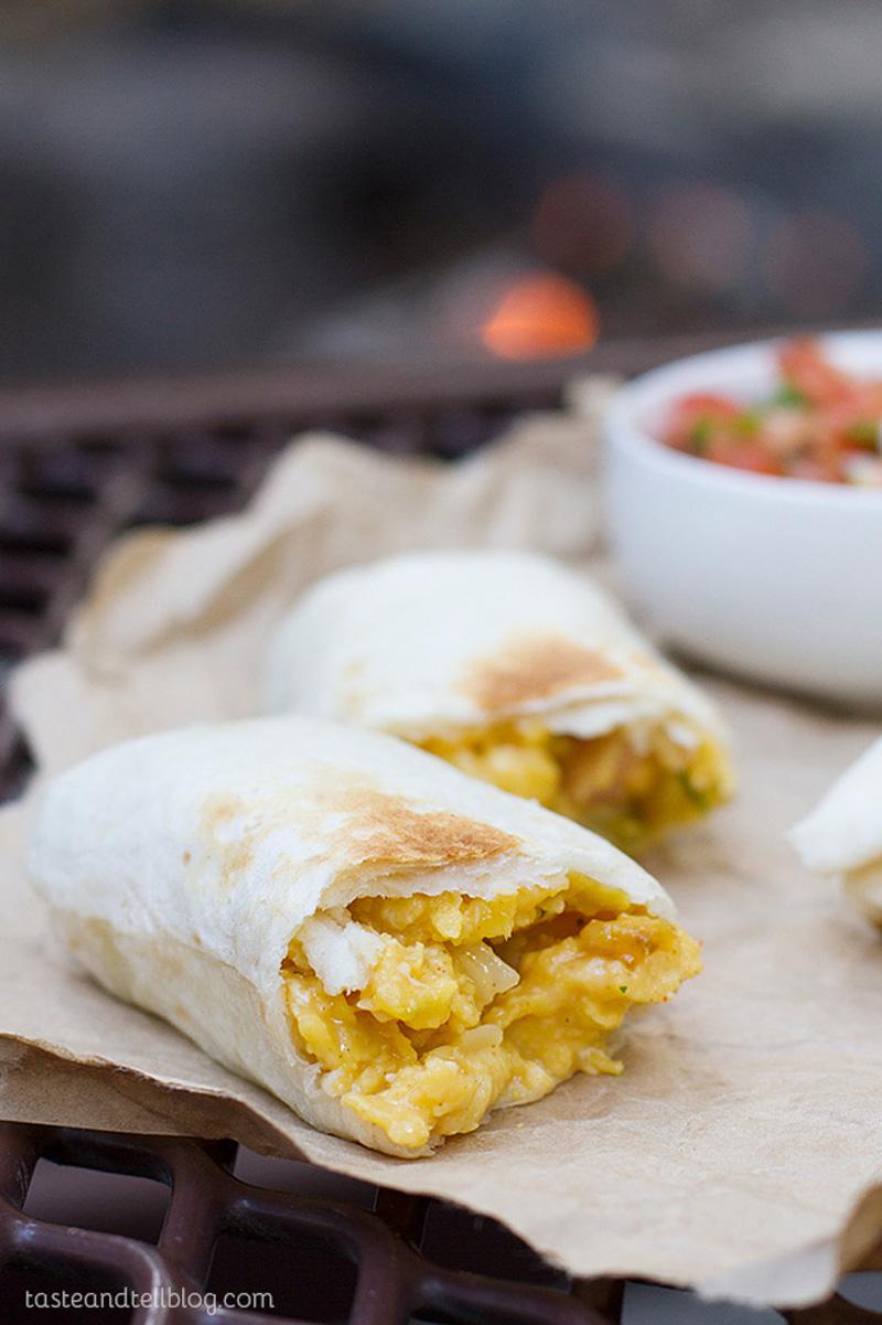 campfire breakfast burritos