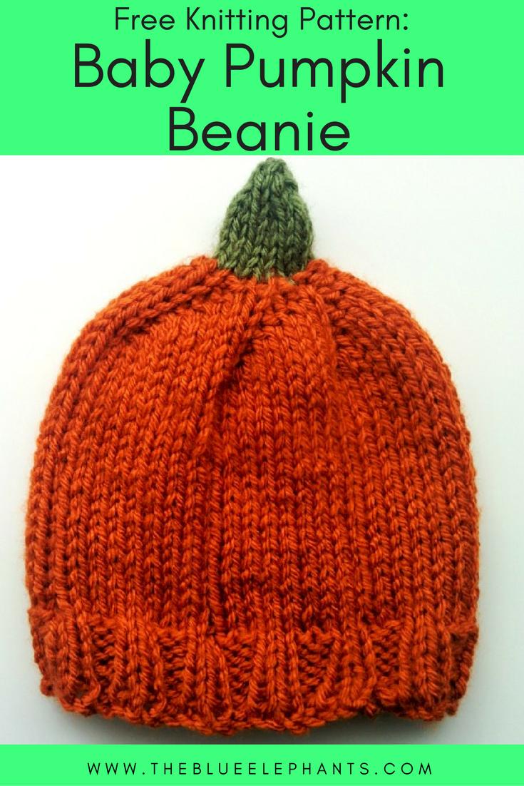 Baby Pumpkin Beanie Free Knitting Pattern