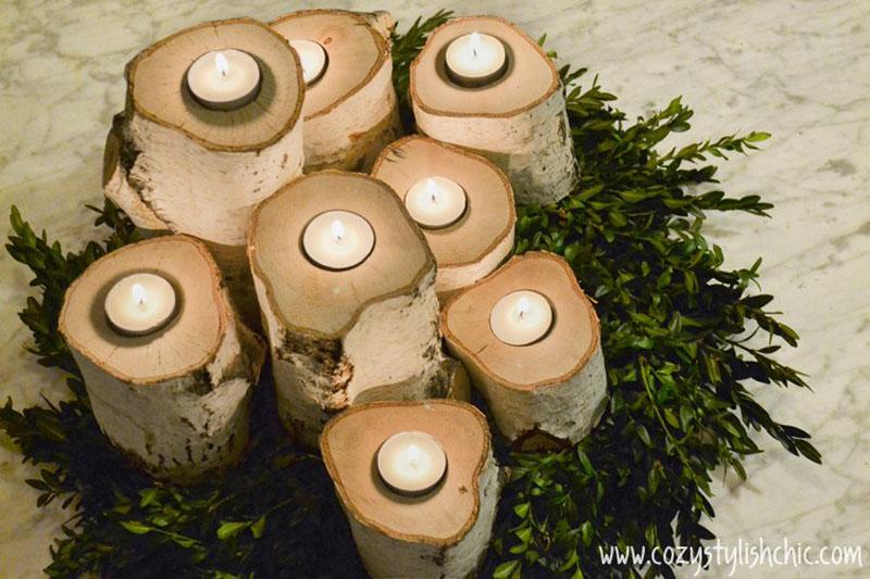 birchwood table centerpiece