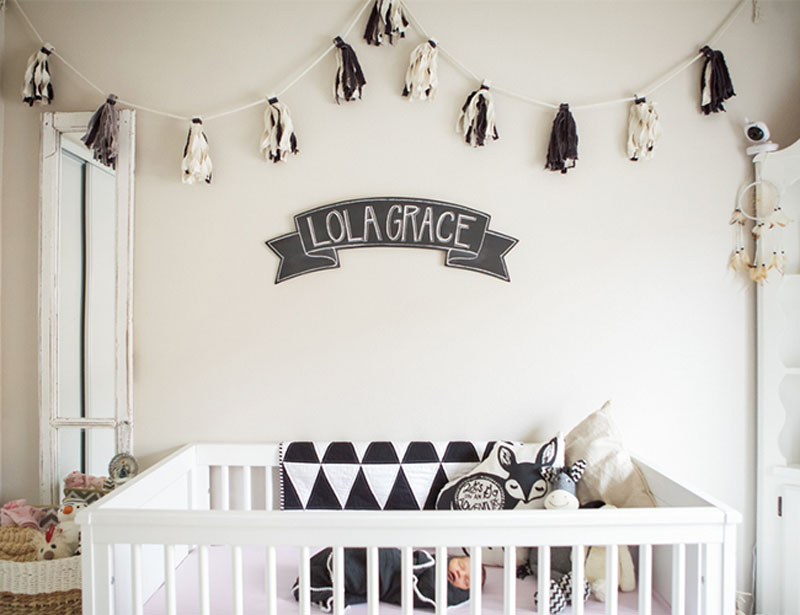 geometric and monochrome nursery