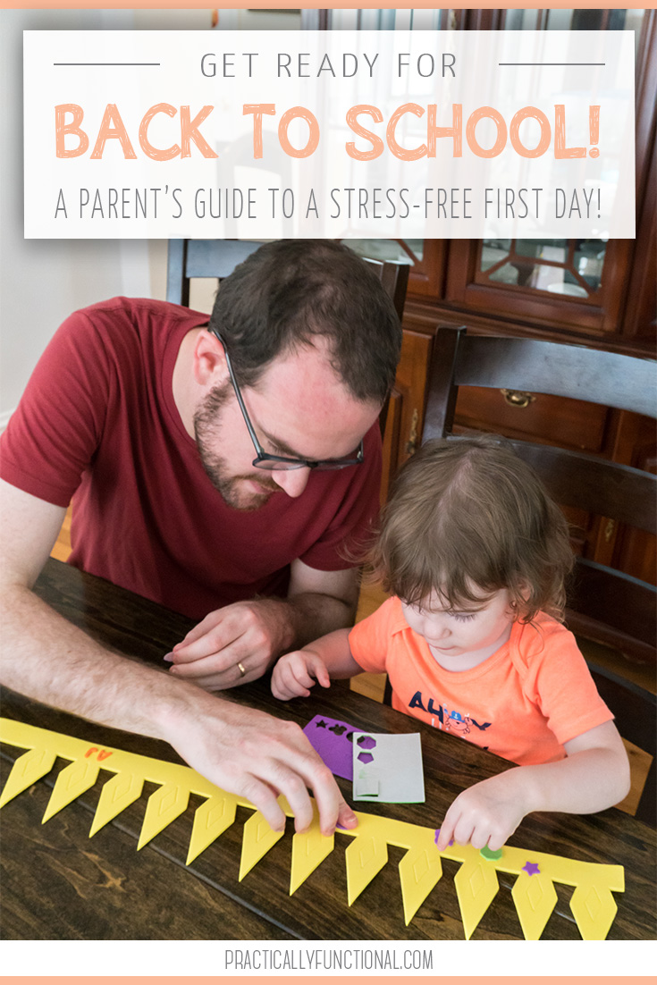 The ultimate parent's guide to making the first day of school stress-free and enjoyable for you and your baby! With a little bit of preparation, you can easily get the kids off to school with your sanity intact!