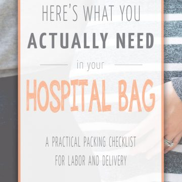 What you actually need in your maternity hospital bag