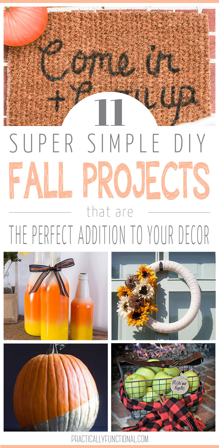 Simple Fall Wreath: 11 Easy DIY Fall Decor Projects