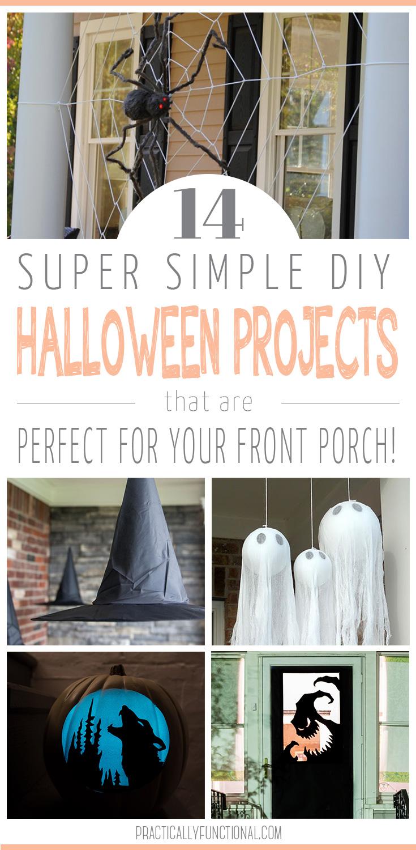 14 DIY Halloween porch decorations
