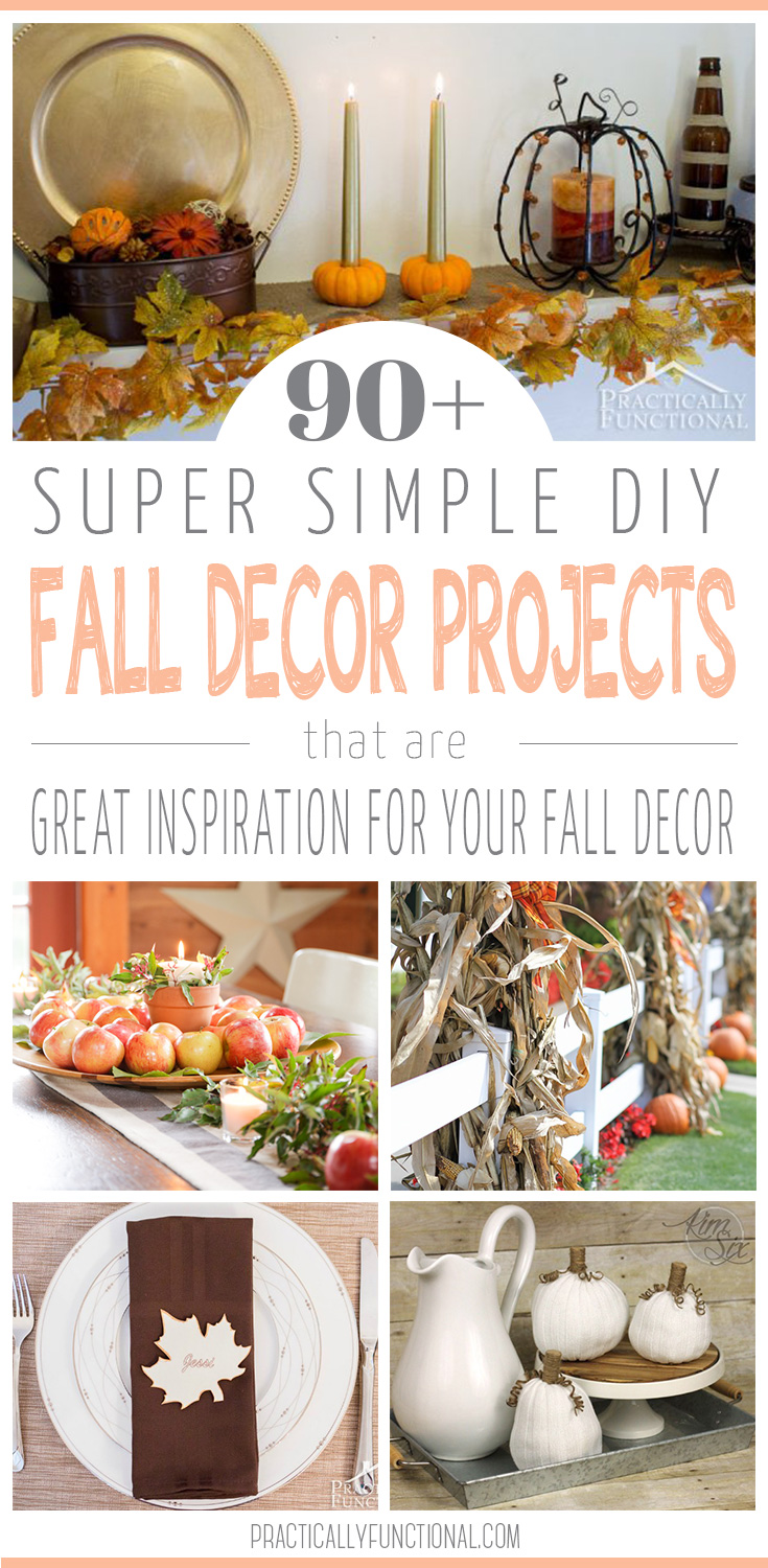 Decorating for fall is my favorite! Here are 90+ simple DIY fall decor projects to inspire you!