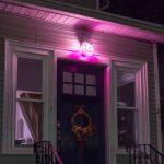 DIY pumpkin porch light