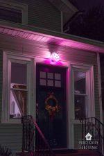 DIY Pumpkin Porch Light For Halloween