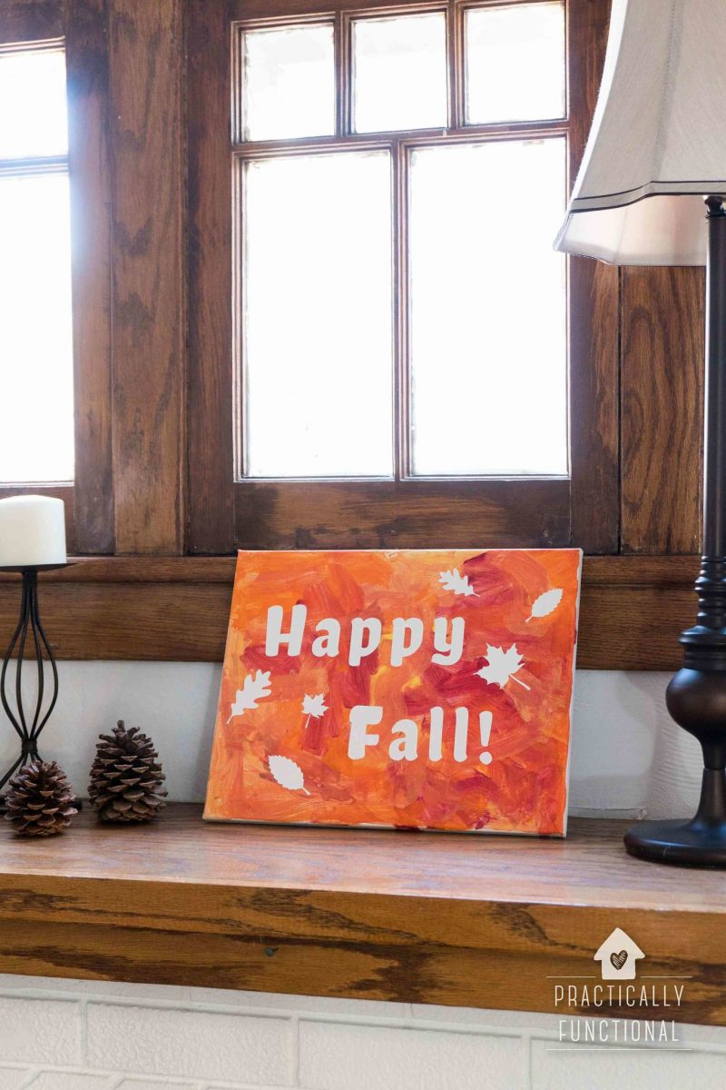 fun fall painting craft for toddlers