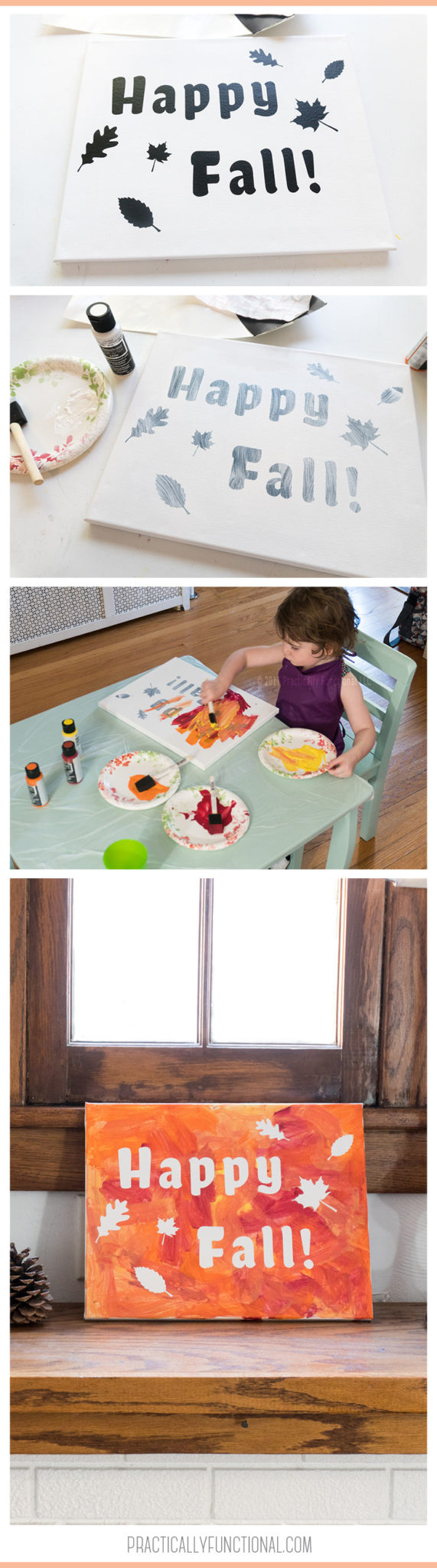 If you're looking for a fun fall painting craft for toddlers to do this year, this one is perfect because it allows them to paint however they want!