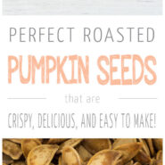 How to make perfect roasted pumpkin seeds! These easy fall snacks are so fun to make and taste delicious!