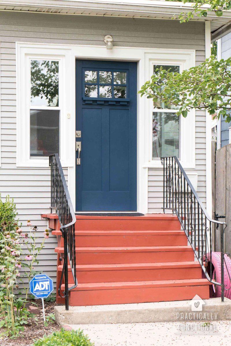 paint your front door the easy way