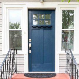 How to paint a front door the easy way