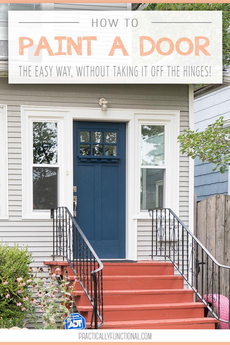 how to paint a door the easy way