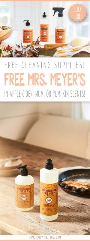 Free mrs. meyers fall scents trio and dish brush from grove collaborative practically functional pin