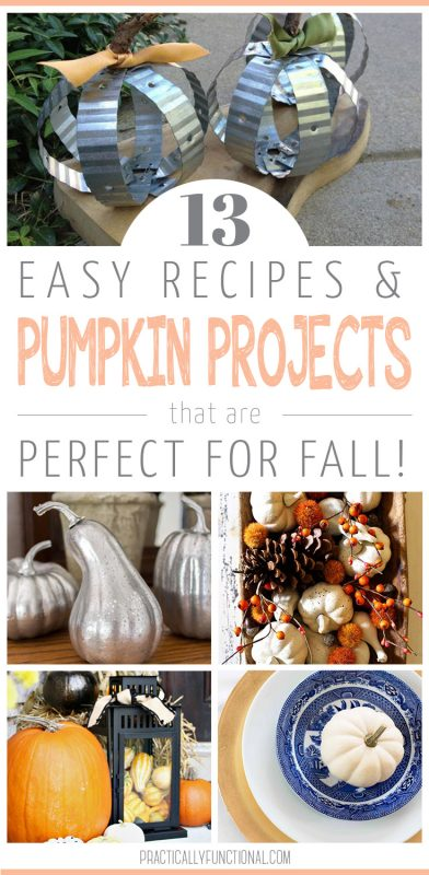 13 easy pumpkin projects and recipes for fall