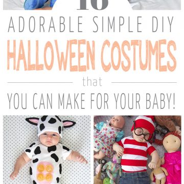 16 Adorable & Simple DIY Baby Halloween Costumes
