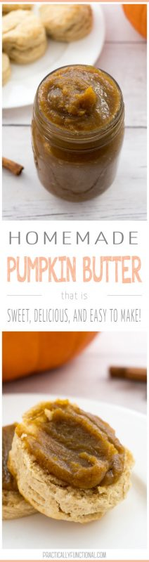 Homemade pumpkin butter in the slow cooker