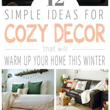 12 simple cozy decor ideas for winter