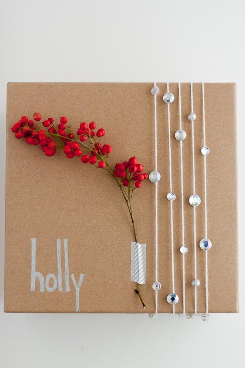 sparkle gift wrap idea