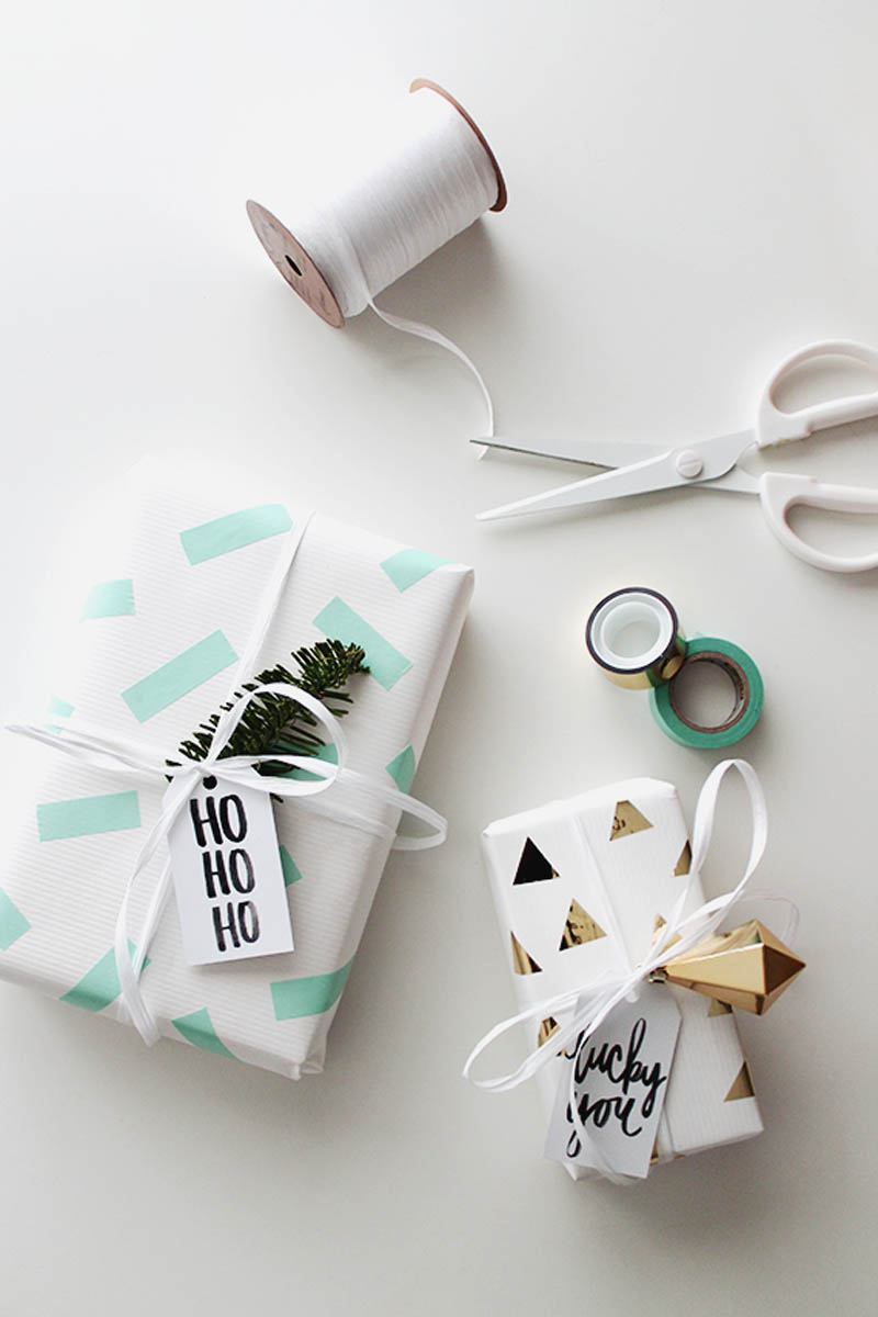 washi tape gift wrap idea