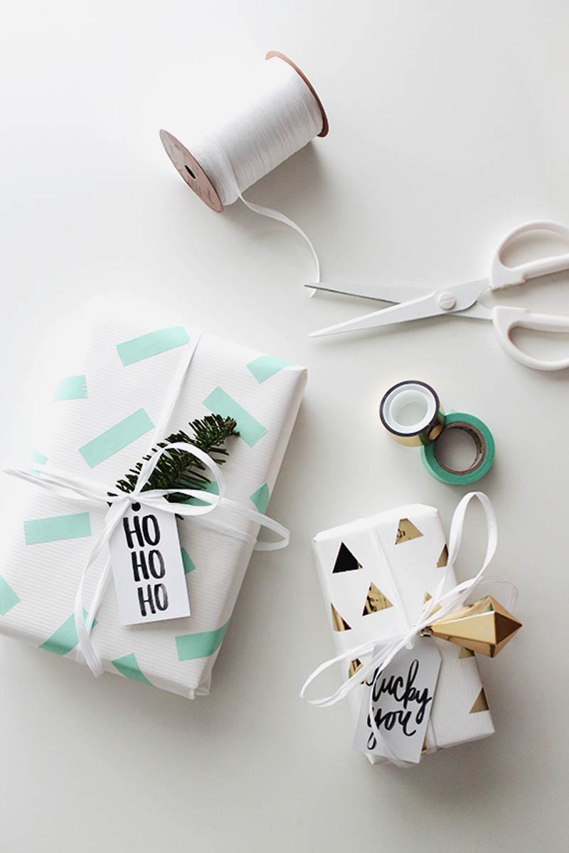 washi tape gift wrap idea