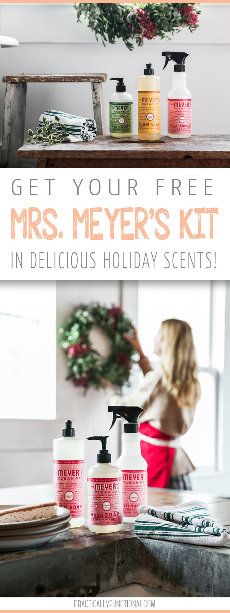 Get your free Mrs. Meyer's Kit in delicious Holiday Scents!
