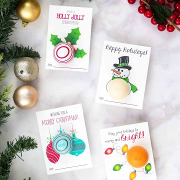 Free Printable eos Lip Balm Christmas Gifts
