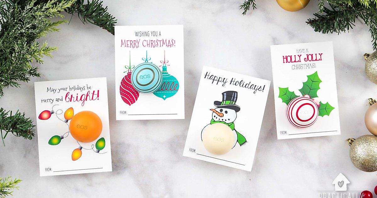 Free Printable eos Lip Balm Christmas Gifts